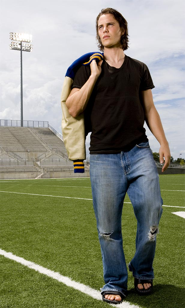 Taylor Kitsch stars as Tim Riggins in Friday Night Lights on NBC.