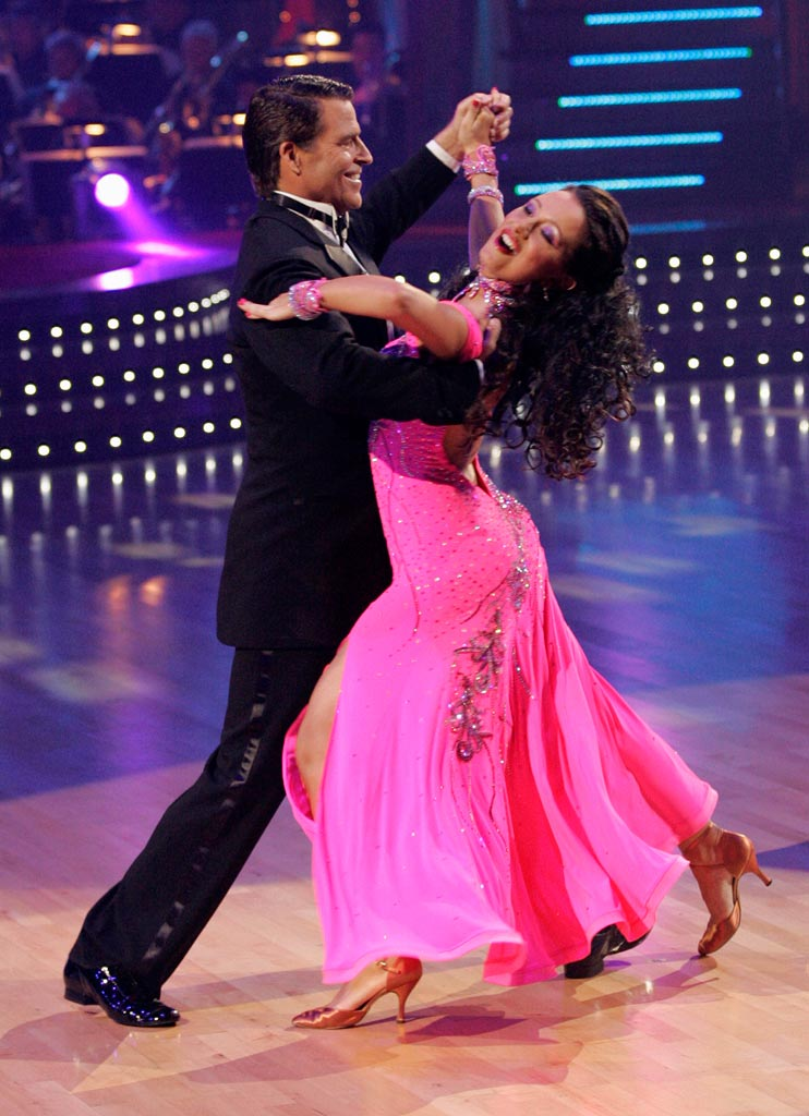 Ted McGinley and Inna Brayer perform a dance on the seventh season of Dancing with the Stars.