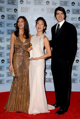 "Teri Hatcher, Sandra Oh and Brandon Routh Best Supporting Actress in a Series - ""Grey's Anatomy"" 63rd Annual Golden Globe Awards - Press Room Beverly Hills, CA - 1/16/06"