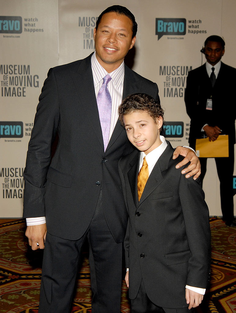 Terrence Howard and son at The Museum of Moving Image Salutes Will Smith.