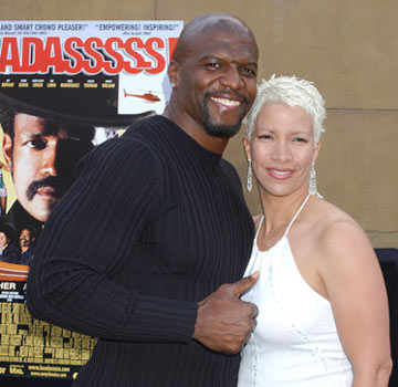 Premiere: Terry Crews and wife Rebecca at the Hollywood premiere of Sony Pictures Classics' Baadasssss! - 5/25/2004