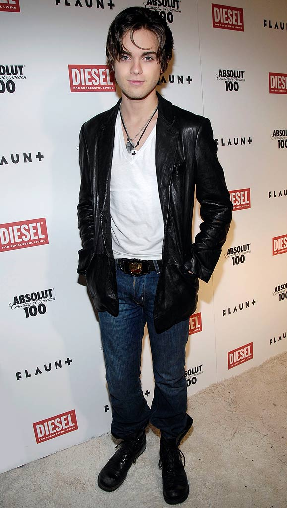 Thomas Dekker attends FLAUNT Magazine's 9th Anniversary Bash and Holiday Toy Drive at The Green Door.