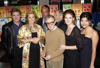 Premiere: Treat Williams, Tea Leoni, George Hamilton, Woody Allen, Mark Rydell, Debra Messing and Tiffani Thiessen at the New York premiere of Dreamworks' Hollywood Ending - 4/23/2002