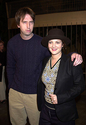 Premiere: Tom Green and Drew Barrymore at the Hollywood premiere of Donnie Darko - 10/22/2001