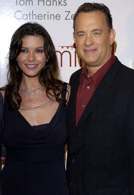 Premiere: Catherine Zeta-Jones and Tom Hanks at the Beverly Hills premiere of DreamWorks' The Terminal - 6/9/2004