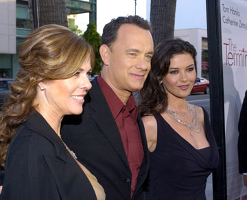 Premiere: Rita Wilson, Tom Hanks and Catherine Zeta-Jones at the Beverly Hills premiere of DreamWorks' The Terminal - 6/9/2004