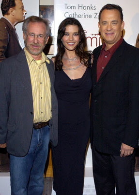 Premiere: Steven Spielberg, Catherine Zeta-Jones and Tom Hanks at the Beverly Hills premiere of DreamWorks' The Terminal - 6/9/2004