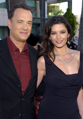 Premiere: Tom Hanks and Catherine Zeta-Jones at the Beverly Hills premiere of DreamWorks' The Terminal - 6/9/2004