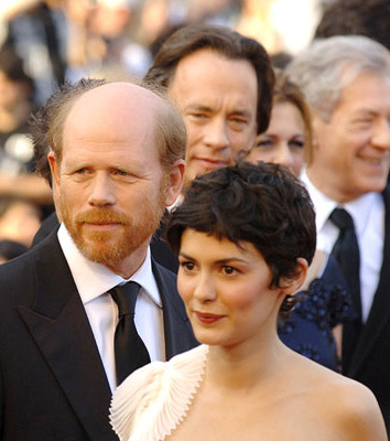 "Ron Howard, Tom Hanks and Audrey Tautou ""The Da Vinci Code"" Premiere - 5/17/2006 2006 Cannes Film Festival"