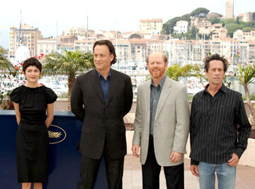 Audrey Tautou, Tom Hanks, director Ron Howard and producer Brian Grazer The Da Vinci Code Photo Call - 5/17/2006 2006 Cannes Film Festival