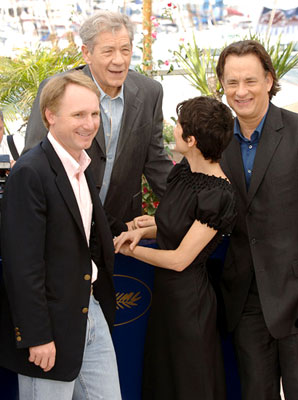 Author Dan Brown, Ian McKellen, Audrey Tautou and Tom Hanks The Da Vinci Code Photo Call - 5/17/2006 2006 Cannes Film Festival