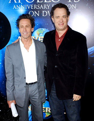 Producer Brian Grazer and Tom Hanks Apollo 13 Anniversary Edition DVD - Screening/Q&A California Science Center - Los Angeles, CA - 3/22/05
