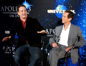 Tom Hanks and producer Brian Grazer Apollo 13 Anniversary Edition DVD - Screening/Q&A California Science Center - Los Angeles, CA - 3/22/05