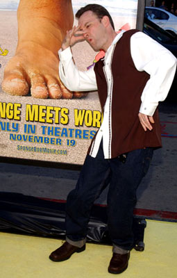 Premiere: Tom Kenny, the voice of SpongeBob, at the Hollywood premiere of Paramount Pictures' The Spongebob Squarepants Movie - 11/14/2004