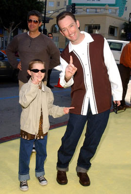 Premiere: Tom Kenny, the voice of SpongeBob, and son at the Hollywood premiere of Paramount Pictures' The Spongebob Squarepants Movie - 11/14/2004