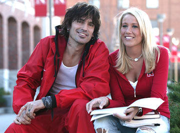 Tommy Lee with Natalie Riedmann NBC's Tommy Lee Goes to College
