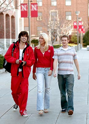 Tommy Lee with Natalie Riedmann and Matt Ellis NBC's Tommy Lee Goes to College