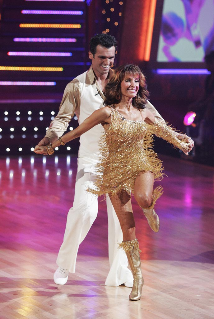 Susan Lucci and Tony Dovolani perform a dance on the seventh season of Dancing with the Stars.