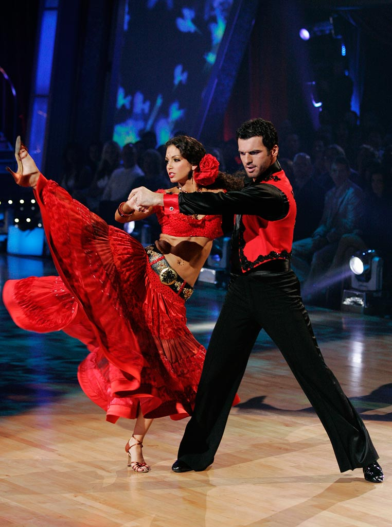 "Melissa Rycroft and Tony Dovolani perform the Paso Doble to ""Poker Face"" by Lady Gaga on ""Dancing with the Stars."""