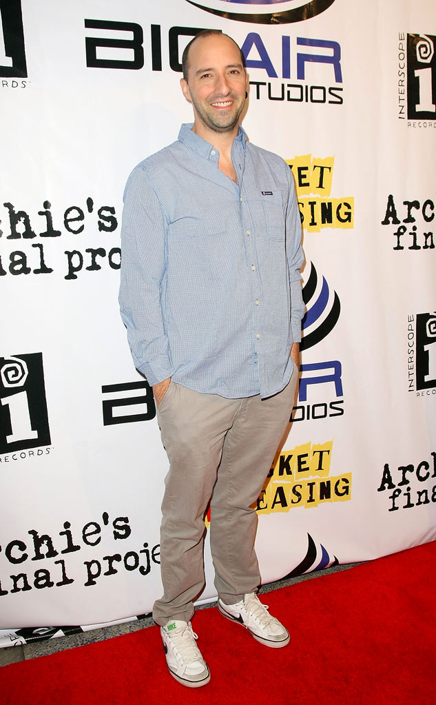 "Tony Hale arrives for the Premiere Of ""Archie's Final Project"" at the Laemmle Monica on September 22, 2011 in Santa Monica, California."