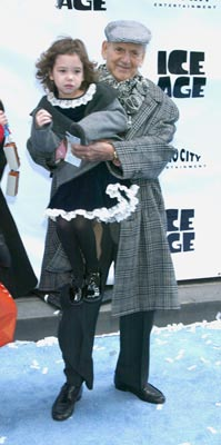 Premiere: Tony Randall and daughter at the Radio City Music Hall premiere of Ice Age - 3/10/2002