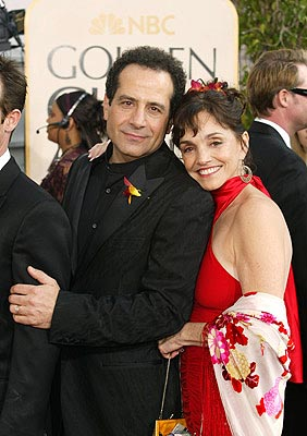 Tony Shalhoub, Brooke Adams Golden Globes - 1/25/2004
