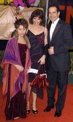 Brooke Adams and Tony Shalhoub and daughter Sophie Screen Actors Guild Awards 2/22/2004