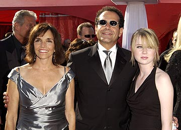 Brooke Adams, Tony Shalhoub and daughter 55th Annual Emmy Awards - 9/21/2003