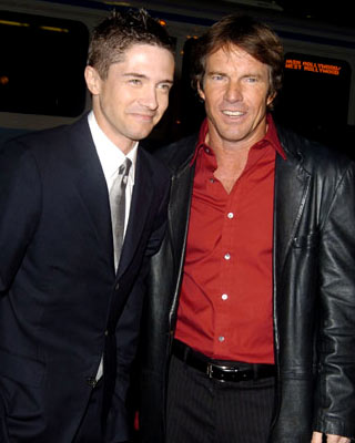 Premiere: Topher Grace and Dennis Quaid at the Hollywood premiere of Universal Pictures' In Good Company - 12/6/2004