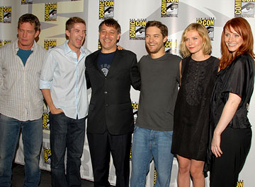 Thomas Haden Church, Topher Grace, Sam Raimi, Tobey Maguire, Kirsten Dunst and Bryce Dallas Howard San Diego Comic-Con - 7/22/2006