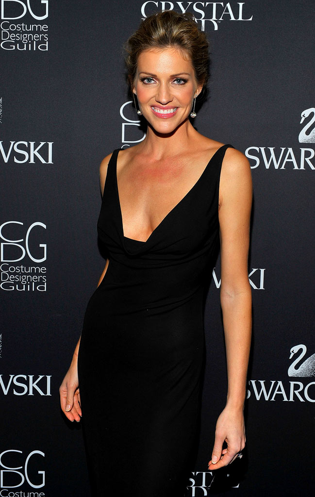 Tricia Helfer backstage during the 11th annual Costume Designers Guild Awards held at the Four Seasons Beverly Wilshire Hotel on Februray 17, 2009 in Beverly Hills, California.