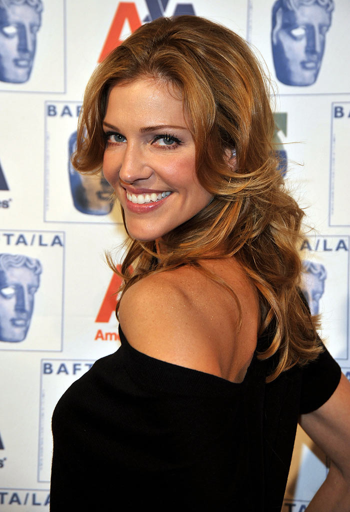 Tricia Helfer arrives at the 5th annual British Academy of Film and Televisions Arts/LA Awards Season Tea Party held on January 10, 2009 at the Beverly Hills Hotel.