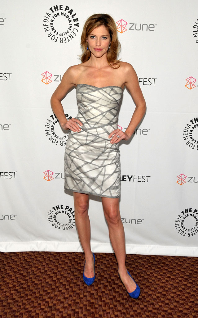 "Tricia Helfer arrives at PaleyFest09 presents ""Battlestar Galactica/Caprica"" at the ArcLight Theaters on April 20, 2009 in Los Angeles, California."