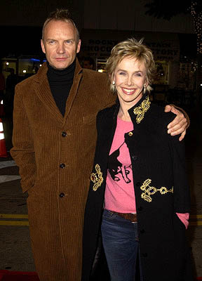 Premiere: Sting and Trudie Styler at the LA premiere of Miramax's Kate & Leopold - 12/11/2001