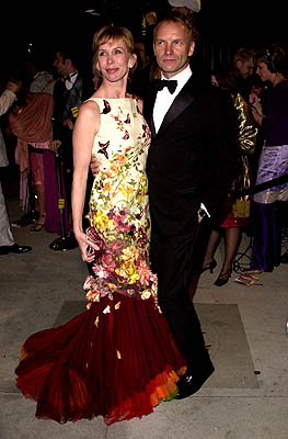 Trudie Styler and Sting 73rd Academy Awards Vanity Fair Party Beverly Hills, CA 3/25/2001