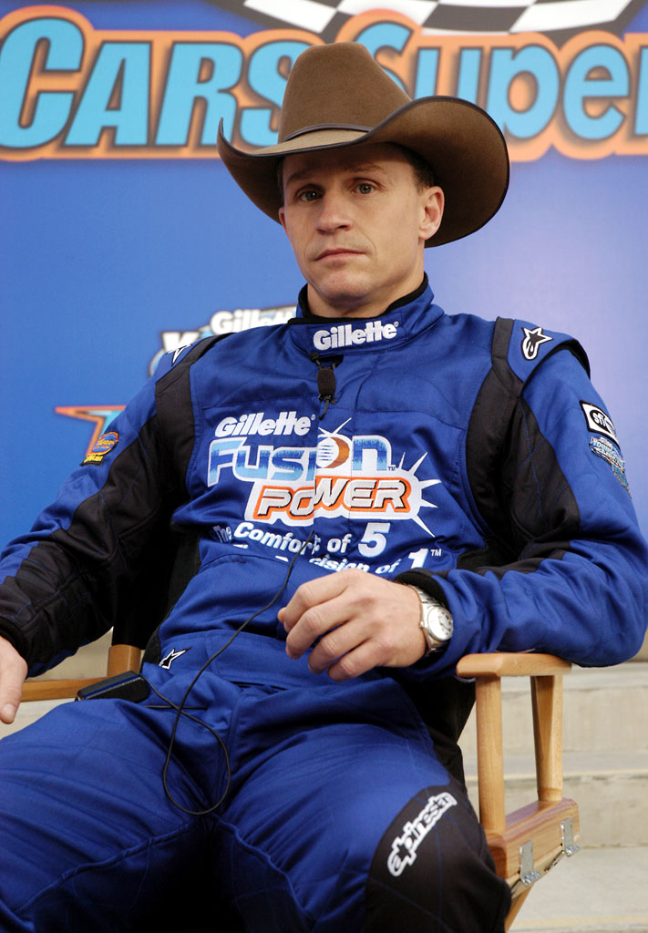 Ty Murray competes in Fast Cars & Superstars -- The Gillette Young Guns Celebrity Race.