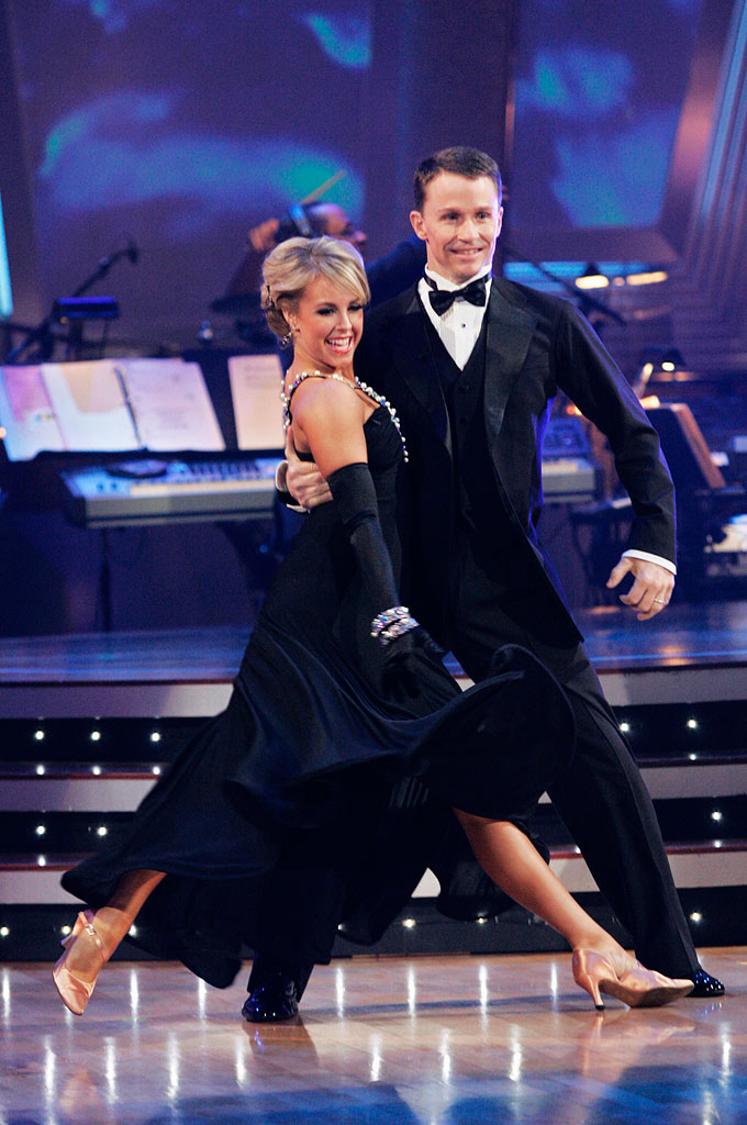 "Ty Murray and Chelsie Hightower perform the Foxtrot to ""Come Dance with Me"" by Frank Sinatra on ""Dancing with the Stars."""