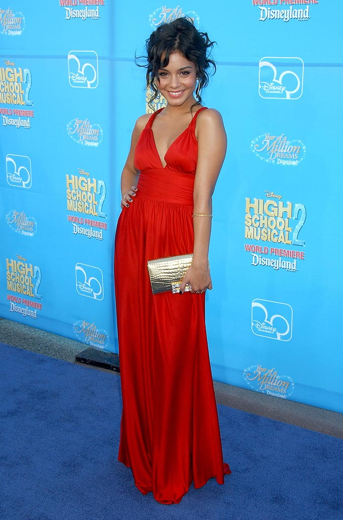 Vanessa Hudgens arrives at the world premiere of High School Musical 2 at Downtown Disney.