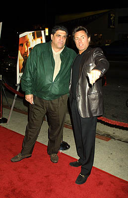 Premiere: Vincent Pastore and fella at the Los Angeles premire of Newmarket Films' Memento - 3/13/2001