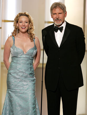 Presenters Virginia Madsen and Harrison Ford 63rd Annual Golden Globe Awards Beverly Hills, CA - 1/16/05