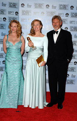 "Virginia Madsen, Diana Ossana and Harrison Ford Best Screenplay - ""Brokeback Mountain"" 63rd Annual Golden Globe Awards - Press Room Beverly Hills, CA - 1/16/06"