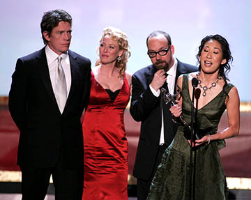 Thomas Haden Church, Virginia Madsen, Paul Giamatti and Sandra Oh of Sideways Outstanding Ensemble in a Motion Picture Screen Actors Guild Awards - 2/5/2005
