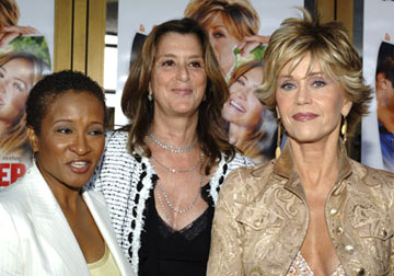 Premiere: Wanda Sykes, producer Paula Weinstein and Jane Fonda at the Westwood premiere of New Line Cinema's Monster-In-Law - 4/29/2005