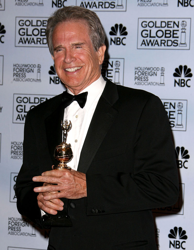 Warren Beatty, recipient of the HFPA Cecil B. DeMille Award, at the 64th annual Golden Globe Awards.