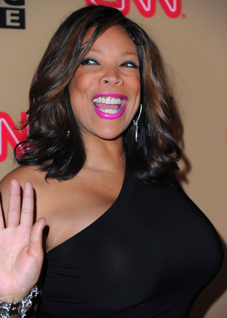 "Wendy Williams arrives at CNN's ""Larry King Live"" final broadcast party at Spago restaurant on December 16, 2010 in Beverly Hills, California."