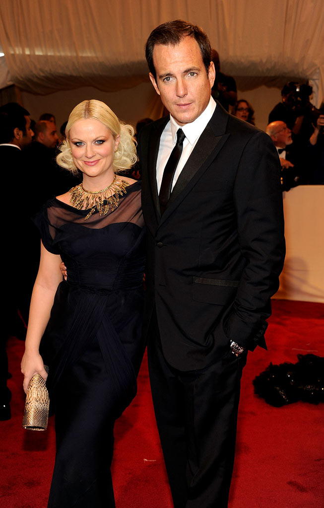"Amy Poehler and Will Arnett attends the ""Alexander McQueen: Savage Beauty"" Costume Institute Gala at The Metropolitan Museum of Art on May 2, 2011 in New York City."