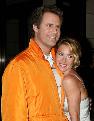 Premiere: Will Ferrell and Christina Applegate at the New York premiere of Dreamworks' Anchorman - 7/7/2004