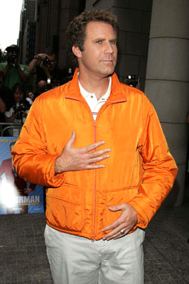 Premiere: Will Ferrell at the New York premiere of Dreamworks' Anchorman - 7/7/2004