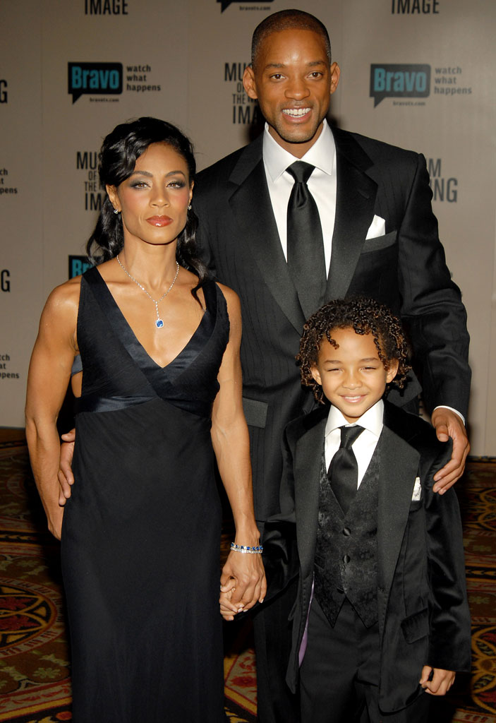 Jada Pinkett Smith, Jaden Smith and Will Smith at The Museum of Moving Image Salutes Will Smith.