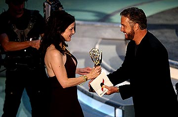 "Mary Louise Parker of ""Angels in America"", presented by William Petersen Outstanding Supporting Actress in a Miniseries or Movie Emmy Awards - 9/19/2004"
